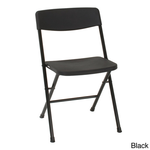 Cosco Resin Folding Chairs (Pack of 4) - White Speckle Pewter