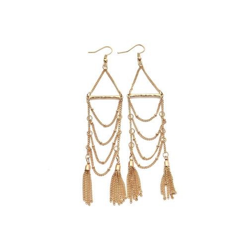Tassel Chain Dangle Earrings