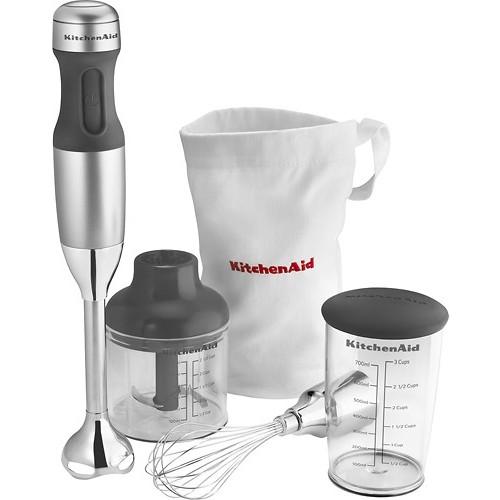 KitchenAid - KHB2351CU 3-Speed Hand Mixer - Contour Silver
