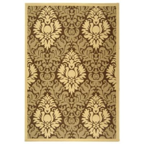 Safavieh Courtyard Brown/Natural 8 ft. x 11 ft. Indoor/Outdoor Area Rug