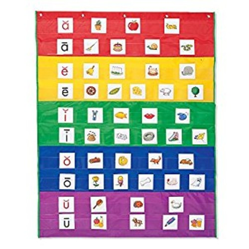 Learning Resources Rainbow Pocket Chart (LER2197) Multi-Colored