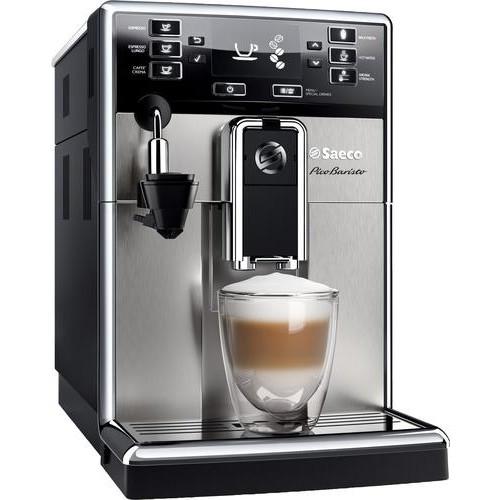 Saeco - PicoBaristo Espresso Maker/Coffeemaker - Black/stainless steel