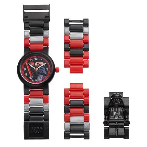 LEGO Kids' Star Wars Darth Vader Minifigure Interchangeable Watch Set