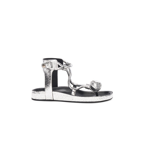 Metallic Leather Either Sandals