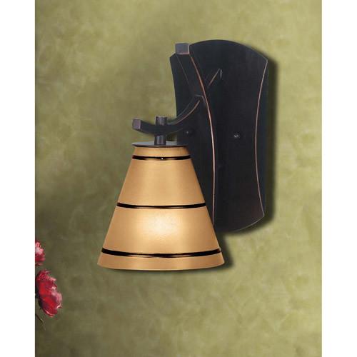 Kenroy Home 90081ORB Wright 1-Light Sconce, Blackened Oil Rubbed Bronze [Oil-rubbed Bronze, Full Size]