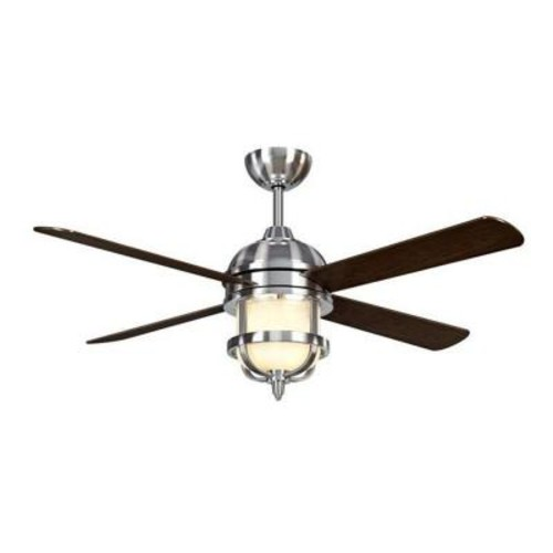 Hampton Bay Senze 52 in. Indoor Brushed Nickel Ceiling Fan with Light Kit and Remote Control