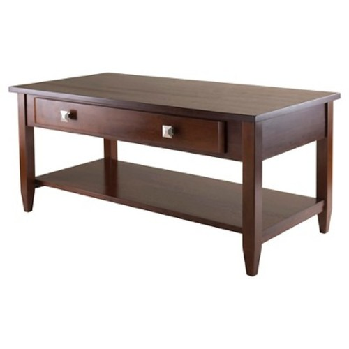 Richmond Coffee Table With Tapered Leg Walnut Finish - Winsome