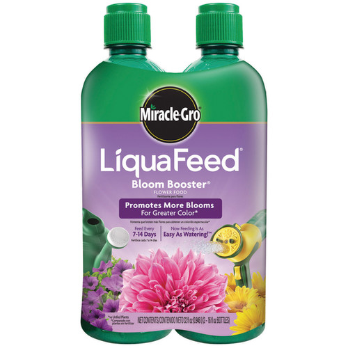 Miracle Gro 1004043 16-Ounce LiquaFeed Bloom Booster Flower Food Bottles 2-Count