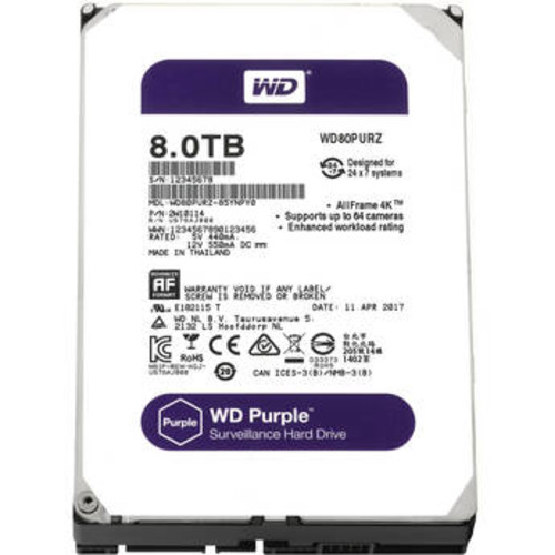 8TB Purple 5400 rpm SATA III 3.5