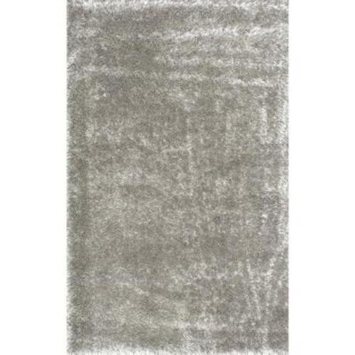 nuLOOM Millicent Shaggy Grey 7 ft. 10 in. x 10 ft. Area Rug