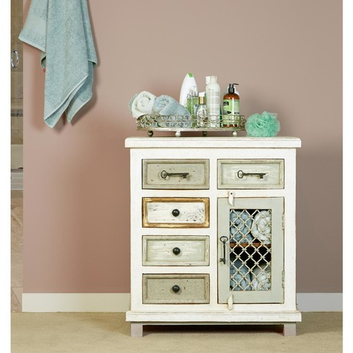 Hillsdale Furniture LaRose Rustic White and Gray Storage Cabinet