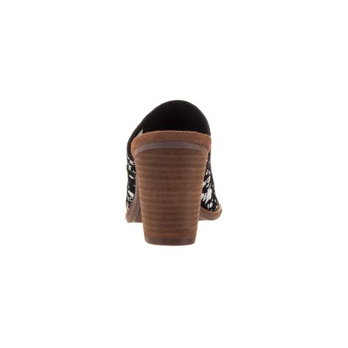 Toms Women's Majorca Mule Black White Casual Shoe [option : 6]