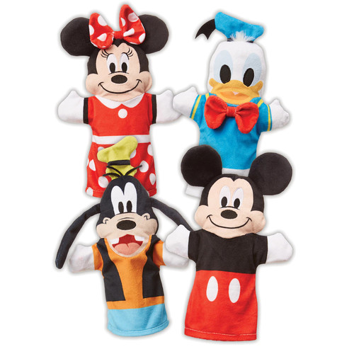 Mickey Mouse & Friends Soft Hand Puppets by Melissa & Doug