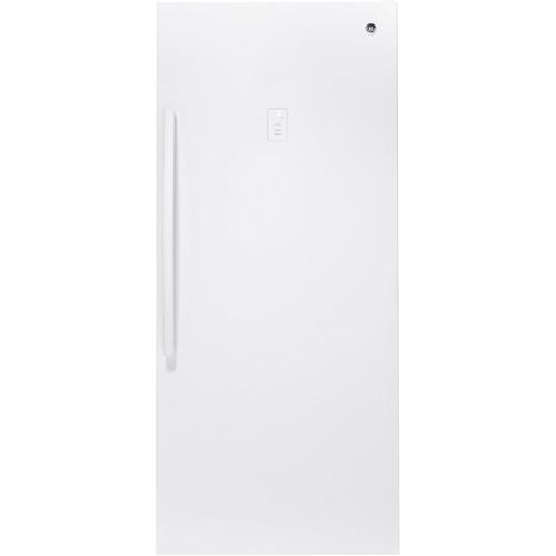 GE - 21.3 Cu. Ft. Frost-Free Upright Freezer - White