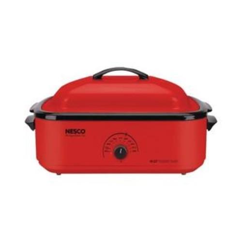 Nesco 4818-12 18-Quart Porcelain Roaster Oven (Red)