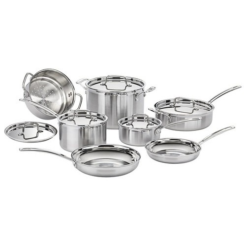 Cuisinart MultiClad Pro Triply 12-Piece Cookware Set in Stainless MCP-12N