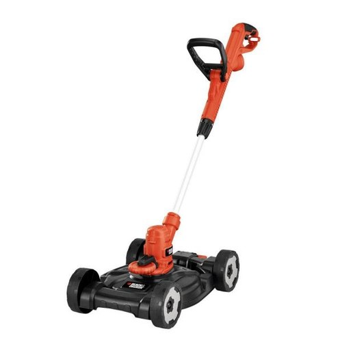 BLACK+DECKER 12 in. 6.5-Amp Corded Electric Straight Shaft Single Line 3-in-1 String Grass Trimmer/Lawn Edger/Push Mower