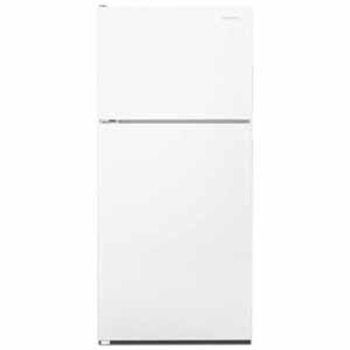 Amana 18 cu ft 30 Wide Top-Freezer Refrigerator With Glass Shelves - White