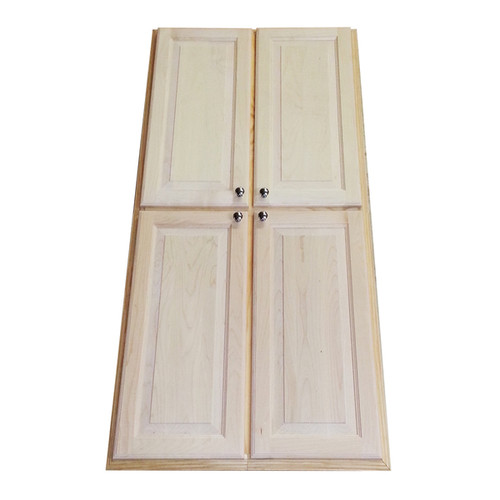 WG Wood Products Natural Pine/Maple 54-inch Recessed Pantry Storage Cabinet