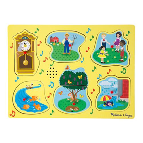 Melissa & Doug Nursery Rhymes Sound Puzzle, Set 1, Pre-K To Kindergarten