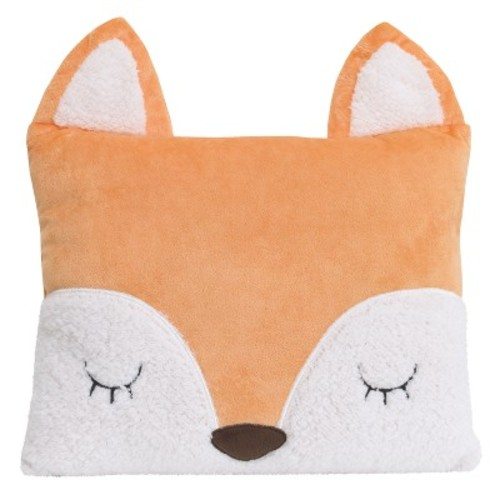 Little Love by NoJo Throw Pillow - Fox - Orange