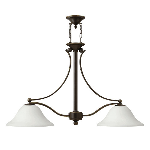 Hinkley Lighting 4662-OPAL Bolla 2 Light 1 Tier Chandelier