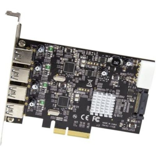 StarTech 4 Port USB 3.1 PCI-e Card (10Gbps), 4x USB-A with Two 10Gbps Dedicated Channels, USB 3.1 Card, USB Expansion Card