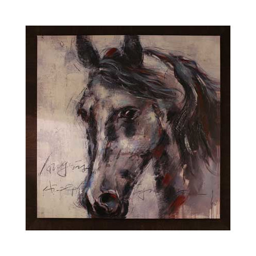 Horse Face by Tina O. Framed Painting