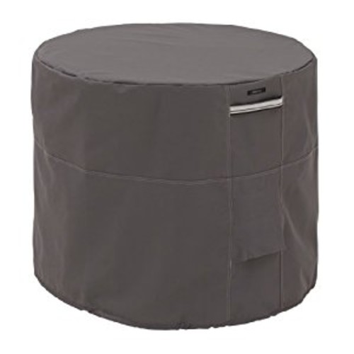 Classic Accessories Ravenna Round Air Conditioner Cover - Premium Outdoor Cover with Durable and Water Resistant Fabric (55-176-015101-EC)