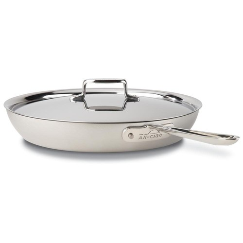 All-Clad d5 Brushed Stainless Steel 13 inch French Skillet Lid (3913 NH)