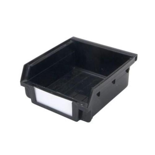 Triton Products LocBin Non-Stacking Small Black Hanging Storage Bin (30-Pack)