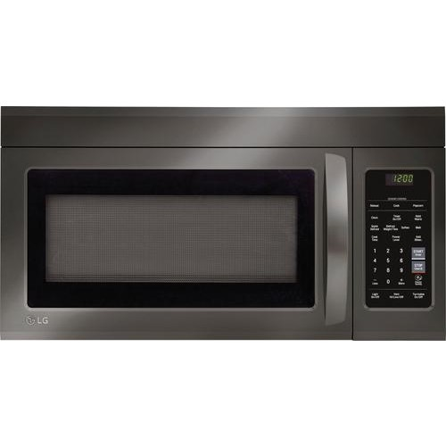 LG - 1.8 Cu. Ft. Over-the-Range Microwave with Sensor Cooking - Black stainless steel