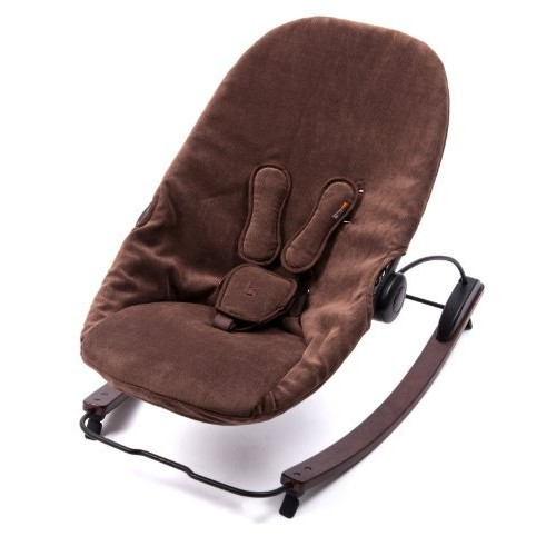 Bloom Coco Go 3-in-1 Baby Lounger Frame with Seat Pad, Cappuccino/Henna Brown