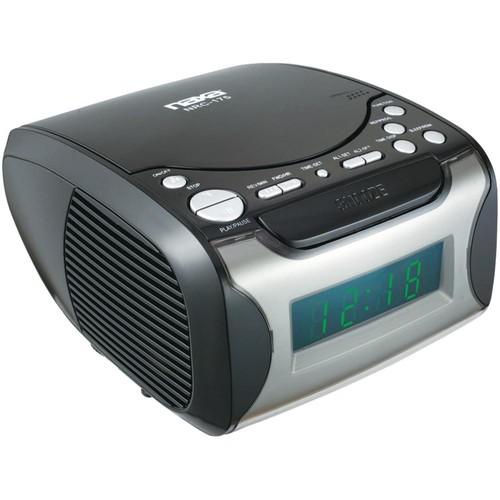 Naxa Digital Alarm Clock Radio and CD Player