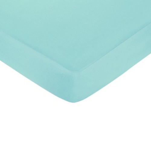 Sweet JoJo Designs Fitted Crib Sheet Turquoise