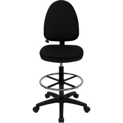 Flash Furniture Mid Back Fabric Multi-Functional Drafting Stools With Lumbar Support