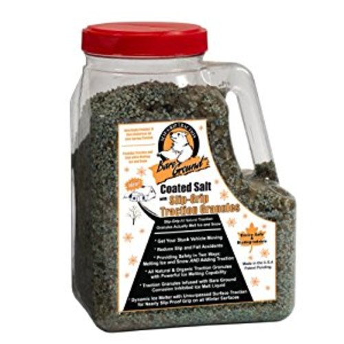 Bare Ground CSSLGP-12 Premium Coated Granular Ice Melt with Slipgrip Traction Granules in Shaker Jug, 12 lbs [12 lbs]
