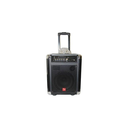 Portable Audio, Bluetooth Speaker Nutek TS20110B 10-Inch 5Ah Portable Sound System with Disco Light