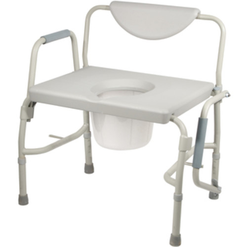 Drive Medical Bariatric Extra Wide Drop Arm Bedside Commode