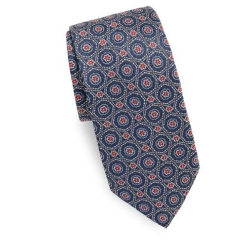 Saks Fifth Avenue Made in Italy - Medallion Design Silk Tie