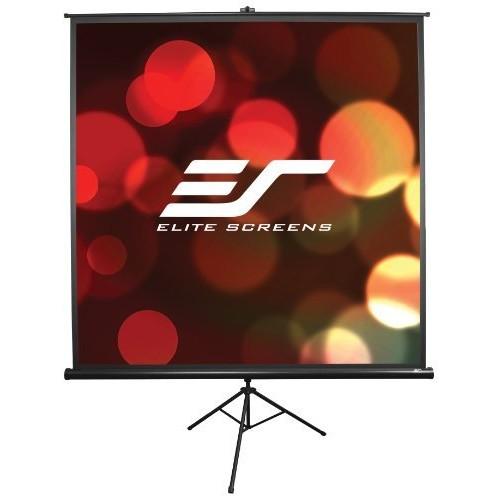 Elite Screens Tripod, 100-inch, Adjustable Multi Aspect Ratio Portable Pull Up Projection Projector Screen, T100UWV1 [4:3, 100-inch, Tripod Series - Black]