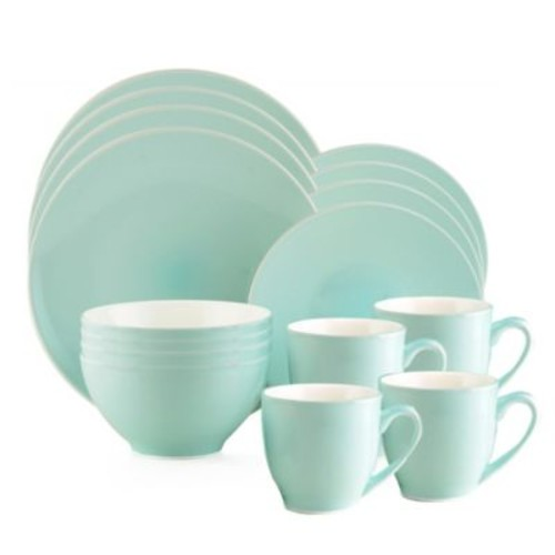 Thomson Pottery Liane Frost 16-Piece Dinnerware Set
