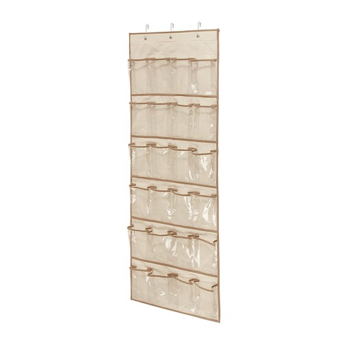 Honey-Can-Do SFT-01256 Over The Door Clear Shoe Organizer/Storage Rack, Natural [Natural]