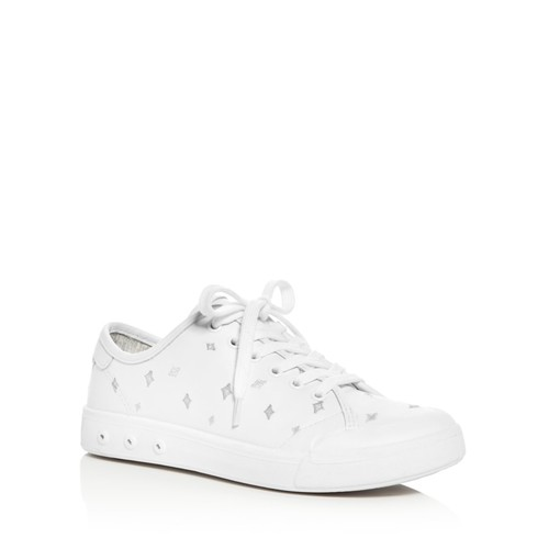 RAG & BONE Women'S Standard Issue Leather Embroidered Lace Up Sneakers