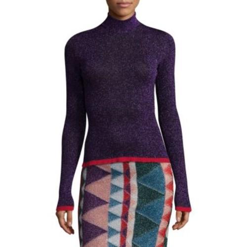 MISSONI Fine Ribbed Lame Turtleneck Sweater