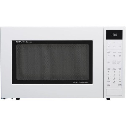 Sharp 1.5 cu. ft. Countertop Convection Microwave in White, Built-In Capable with Sensor Cooking
