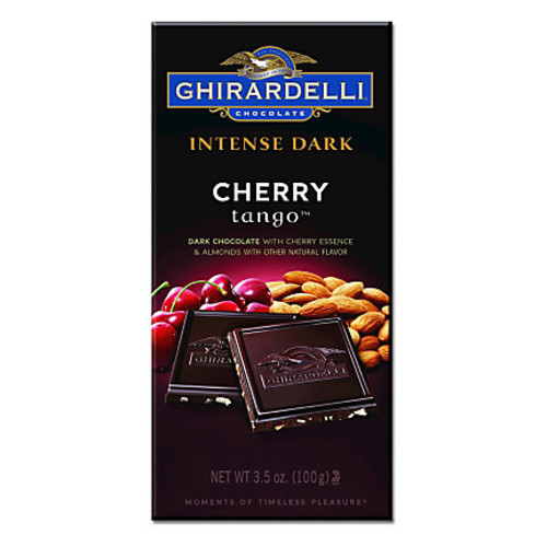 Ghirardelli Intense Dark, Chocolate Cherry Tango, 3.5 Oz, Pack Of 12 Bags
