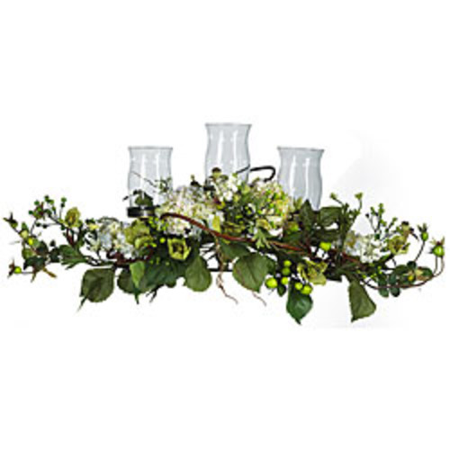 Nearly Natural Artificial Plants Mixed Hydrangea Candelabrum