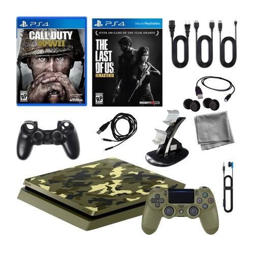Sony PlayStation 4 1TB LE Camo w/ Call of DutyWWII \u0026 More