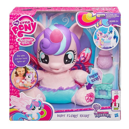 My Little Pony Friendship is Magic Explore Equestria Baby Flurry Heart Pony Doll with Playset